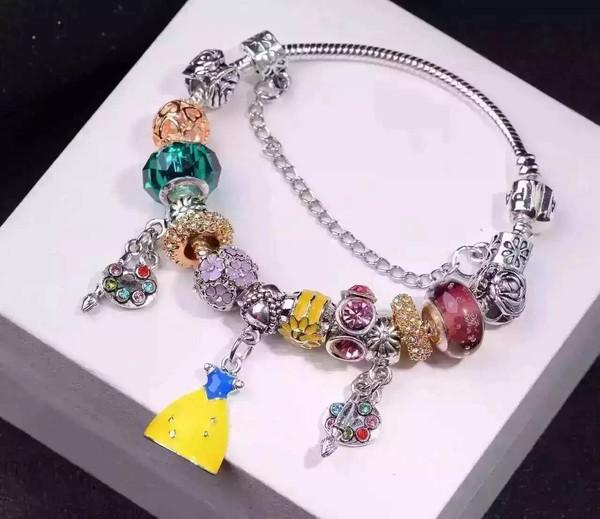 【Stone not language】New 2016 Moldbaby pandora bracelet,Creative bracelet/Pure manual polishing,Snow White style